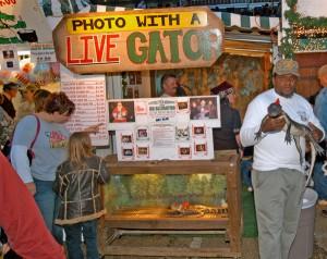 Christmas Alligator Booth